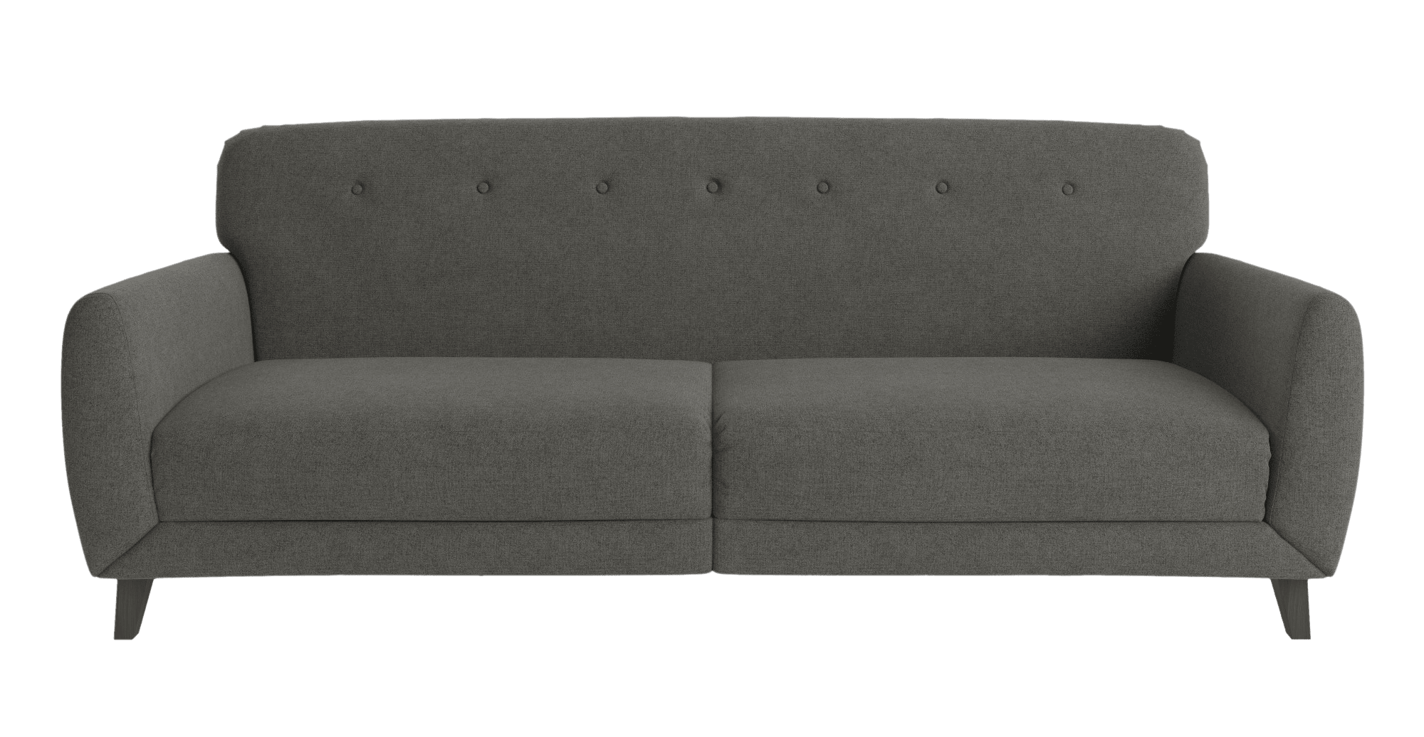 large three-seater gray couch